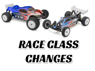 Point Series Race Class Changes